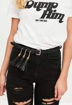 Missguided Black Tassel Belt