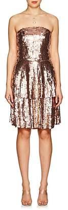 Osman Women's Franzi Sequined Strapless Dress - Bronze