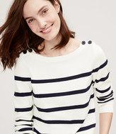 LOFT Petite Striped Sailor Sweater