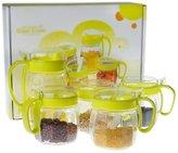 MYITIAN kitchen supplies/Glass cruet set/Doule dressing/Spice jar/oil and vinegar ottles/Flavor in the kitchen