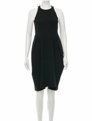 Celine Sleeveless Knee-Length Dress Black