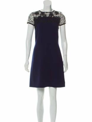 Oscar de la Renta 2017 Virgin Wool Dress w/ Tags Navy