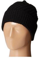 Calvin Klein Geometric Rib Fold Up Cuff Hat