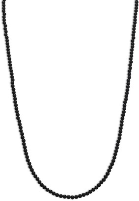 King Baby Studio Black Onyx & Sterling Silver Beaded Necklace