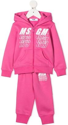 Msgm Kids Logo Print Track Suit