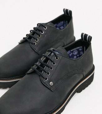 Original Penguin wide fit chunky postman lace-up shoe