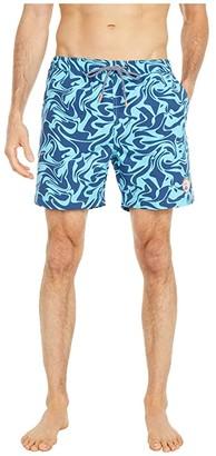 Psycho Bunny Askim Swim Trunks (Navy) Men's Swimwear
