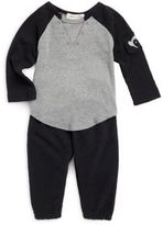 Appaman Baby's Baseball Cotton Tee & Pants Set