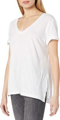 Michael Stars Women's Supima Cotton Slub Short Sleeve V Neck