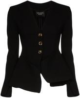 A.W.A.K.E. Mode Tailored peplum collarless jacket