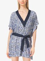Michael Kors Floral-Print V-Neck Tunic