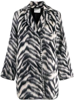 Forte Forte jacquard zebra coat