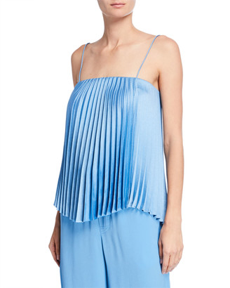 Vince Square-Neck Pleated Camisole