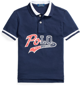 Ralph Lauren Logo Cotton Mesh Polo Shirt