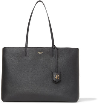 Jimmy Choo NINE2FIVE E/W Black Grainy Calf Tote Bag with JC Logo