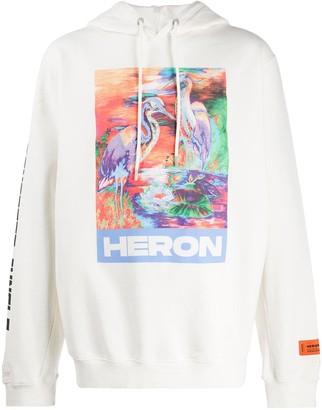 Heron Preston Embroidered Heron Hoodie