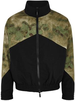 Rhude Black Camouflage-panelled Shell Jacket