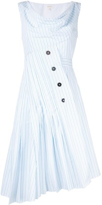 DELPOZO Asymmetric Striped Dress