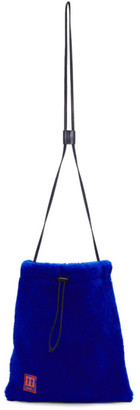 Off-White Blue Sherpa Shoelace Pouch