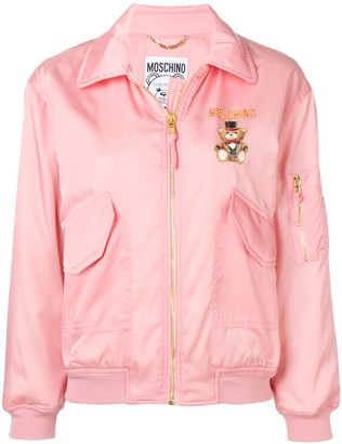 Moschino Printed Bomber Jacket