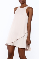 Hommage Sleeveless Mauve Dress