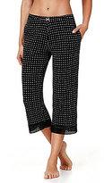 Kensie Dotted Jersey & Lace Capri Sleep Pants