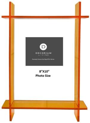 "R16 Home Neon Orange Lucite 8"" x 10"" Frame"
