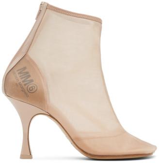 MM6 MAISON MARGIELA Beige Mesh Ankle Boot