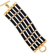 Chanel Five-Row Leather Bracelet