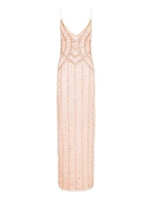 Hailey Logan Beaded Tank Column Gown