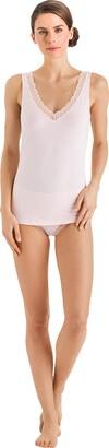 Hanro Women's Cotton Lace Midi Slip Brazilian Knicker