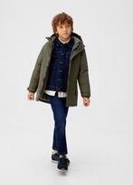 MANGO Hooded waterproof quilted parka khaki - 5 - Kids
