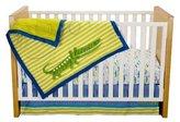 Kids Line Zutano Crib Set, Alligators, 4 Piece