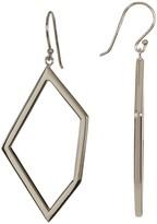 Argentovivo Sterling Silver Open Pentagon Drop Earrings
