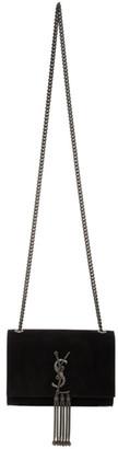 Saint Laurent Black Suede Small Kate Bag