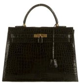 Hermes Vintage Crocodile Kelly 35