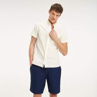 Tommy Hilfiger Slim Fit Seersucker Short-Sleeve Shirt