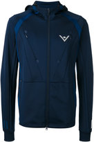 Adidas By White Mountaineering - hooded track jacket - men - Polyester/Spandex/Elastane - M