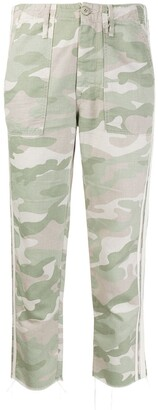 Mother Shaker Chop camouflage-print jeans