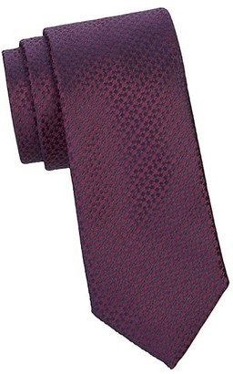 Canali Connected Squares Silk Tie