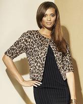 Leopard-Pattern Trapeze Jacket