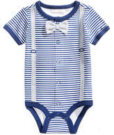 First Impressions Striped Bowtie Cotton Bodysuit, Baby Boys, Created for Macy's