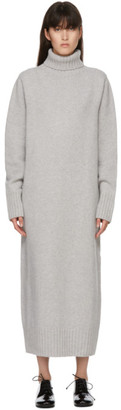 Arch The SSENSE Exclusive Grey Cashmere and Wool Turtleneck Dress