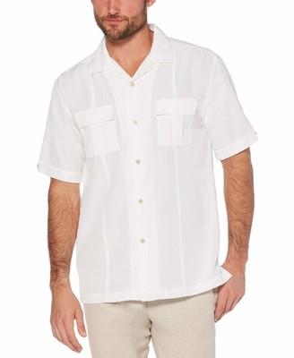 Cubavera Two-pocket pintuck camp collar shirt