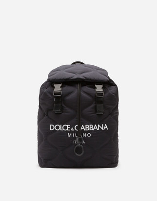 Dolce & Gabbana Nylon Palermo Tecnico Backpack With Logo Print