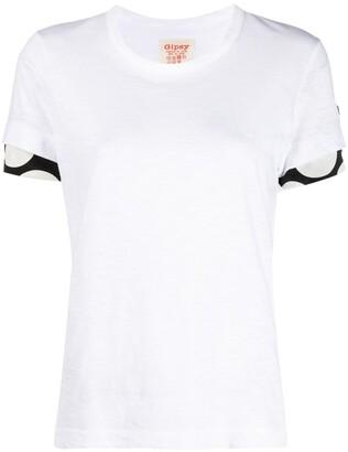 Y's sleeve-insert crew neck T-shirt