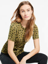 Lucky Brand Ditsy Tie Front Tee