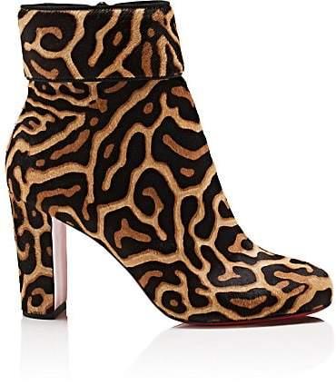 Christian Louboutin Women's Moulamax Calf Hair Ankle Boots - Black-Brown, Black
