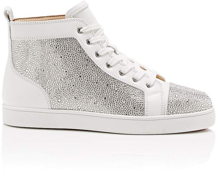 Christian Louboutin Men's Louis Flat Leather Sneakers