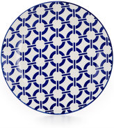 Certified International Chelsea Collection Porcelain Blue Chainlink Canape Plate
